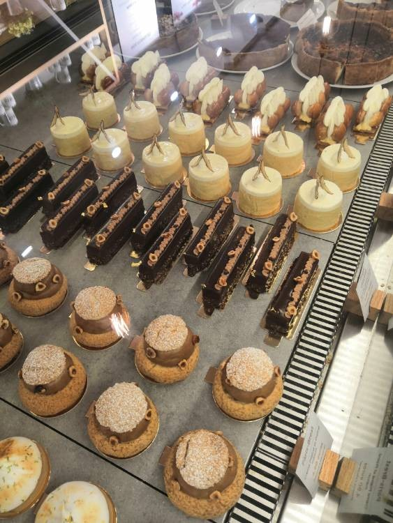 La vitrine de patisseries